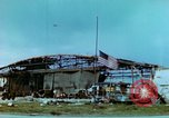 Image of damaged German hangar and USAAF P47 Thunderbolts Germany, 1945, second 3 stock footage video 65675020424