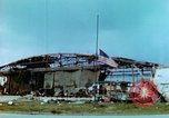 Image of damaged German hangar and USAAF P47 Thunderbolts Germany, 1945, second 10 stock footage video 65675020424