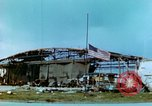 Image of damaged German hangar and USAAF P47 Thunderbolts Germany, 1945, second 13 stock footage video 65675020424