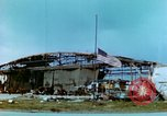Image of damaged German hangar and USAAF P47 Thunderbolts Germany, 1945, second 18 stock footage video 65675020424