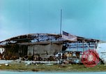 Image of damaged German hangar and USAAF P47 Thunderbolts Germany, 1945, second 19 stock footage video 65675020424