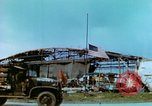 Image of damaged German hangar and USAAF P47 Thunderbolts Germany, 1945, second 22 stock footage video 65675020424