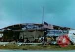 Image of damaged German hangar and USAAF P47 Thunderbolts Germany, 1945, second 27 stock footage video 65675020424