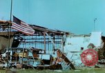 Image of damaged German hangar and USAAF P47 Thunderbolts Germany, 1945, second 31 stock footage video 65675020424