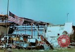 Image of damaged German hangar and USAAF P47 Thunderbolts Germany, 1945, second 32 stock footage video 65675020424