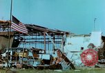 Image of damaged German hangar and USAAF P47 Thunderbolts Germany, 1945, second 35 stock footage video 65675020424