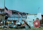 Image of damaged German hangar and USAAF P47 Thunderbolts Germany, 1945, second 38 stock footage video 65675020424