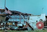 Image of damaged German hangar and USAAF P47 Thunderbolts Germany, 1945, second 39 stock footage video 65675020424