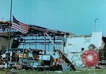 Image of damaged German hangar and USAAF P47 Thunderbolts Germany, 1945, second 40 stock footage video 65675020424