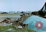 Image of Camouflaged wrecked German Heinkel He-111 airplanes Germany, 1945, second 22 stock footage video 65675020427