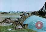 Image of Camouflaged wrecked German Heinkel He-111 airplanes Germany, 1945, second 25 stock footage video 65675020427
