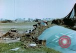 Image of Camouflaged wrecked German Heinkel He-111 airplanes Germany, 1945, second 27 stock footage video 65675020427
