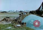 Image of Camouflaged wrecked German Heinkel He-111 airplanes Germany, 1945, second 28 stock footage video 65675020427