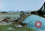 Image of Camouflaged wrecked German Heinkel He-111 airplanes Germany, 1945, second 29 stock footage video 65675020427