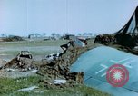 Image of Camouflaged wrecked German Heinkel He-111 airplanes Germany, 1945, second 34 stock footage video 65675020427