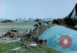 Image of Camouflaged wrecked German Heinkel He-111 airplanes Germany, 1945, second 36 stock footage video 65675020427
