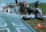 Image of Camouflaged wrecked German Heinkel He-111 airplanes Germany, 1945, second 54 stock footage video 65675020427