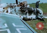 Image of Camouflaged wrecked German Heinkel He-111 airplanes Germany, 1945, second 56 stock footage video 65675020427