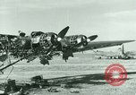 Image of Wreckage of German Me-323 transport airplane at El Aouina airfield Tunis Tunisia, 1943, second 16 stock footage video 65675020479
