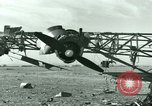Image of Wreckage of German Me-323 transport airplane at El Aouina airfield Tunis Tunisia, 1943, second 17 stock footage video 65675020479
