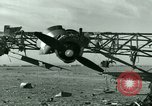 Image of Wreckage of German Me-323 transport airplane at El Aouina airfield Tunis Tunisia, 1943, second 18 stock footage video 65675020479