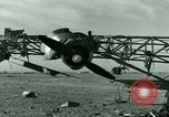 Image of Wreckage of German Me-323 transport airplane at El Aouina airfield Tunis Tunisia, 1943, second 19 stock footage video 65675020479