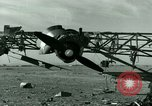 Image of Wreckage of German Me-323 transport airplane at El Aouina airfield Tunis Tunisia, 1943, second 20 stock footage video 65675020479