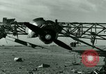 Image of Wreckage of German Me-323 transport airplane at El Aouina airfield Tunis Tunisia, 1943, second 21 stock footage video 65675020479