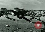 Image of Wreckage of German Me-323 transport airplane at El Aouina airfield Tunis Tunisia, 1943, second 23 stock footage video 65675020479