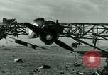 Image of Wreckage of German Me-323 transport airplane at El Aouina airfield Tunis Tunisia, 1943, second 24 stock footage video 65675020479