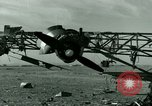 Image of Wreckage of German Me-323 transport airplane at El Aouina airfield Tunis Tunisia, 1943, second 26 stock footage video 65675020479