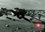 Image of Wreckage of German Me-323 transport airplane at El Aouina airfield Tunis Tunisia, 1943, second 27 stock footage video 65675020479