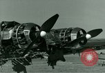 Image of Wreckage of German Me-323 transport airplane at El Aouina airfield Tunis Tunisia, 1943, second 35 stock footage video 65675020479