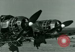 Image of Wreckage of German Me-323 transport airplane at El Aouina airfield Tunis Tunisia, 1943, second 37 stock footage video 65675020479