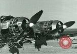 Image of Wreckage of German Me-323 transport airplane at El Aouina airfield Tunis Tunisia, 1943, second 42 stock footage video 65675020479