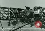 Image of Wreckage of German Me-323 transport airplane at El Aouina airfield Tunis Tunisia, 1943, second 43 stock footage video 65675020479