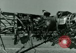 Image of Wreckage of German Me-323 transport airplane at El Aouina airfield Tunis Tunisia, 1943, second 44 stock footage video 65675020479