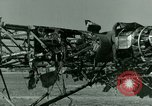 Image of Wreckage of German Me-323 transport airplane at El Aouina airfield Tunis Tunisia, 1943, second 45 stock footage video 65675020479