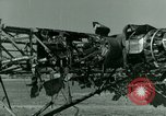 Image of Wreckage of German Me-323 transport airplane at El Aouina airfield Tunis Tunisia, 1943, second 46 stock footage video 65675020479