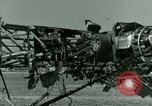 Image of Wreckage of German Me-323 transport airplane at El Aouina airfield Tunis Tunisia, 1943, second 47 stock footage video 65675020479
