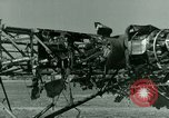 Image of Wreckage of German Me-323 transport airplane at El Aouina airfield Tunis Tunisia, 1943, second 48 stock footage video 65675020479