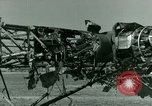 Image of Wreckage of German Me-323 transport airplane at El Aouina airfield Tunis Tunisia, 1943, second 50 stock footage video 65675020479