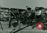 Image of Wreckage of German Me-323 transport airplane at El Aouina airfield Tunis Tunisia, 1943, second 51 stock footage video 65675020479