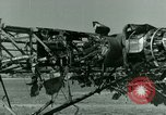 Image of Wreckage of German Me-323 transport airplane at El Aouina airfield Tunis Tunisia, 1943, second 52 stock footage video 65675020479