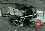 Image of Wreckage of German Me-323 transport airplane at El Aouina airfield Tunis Tunisia, 1943, second 56 stock footage video 65675020479