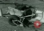 Image of Wreckage of German Me-323 transport airplane at El Aouina airfield Tunis Tunisia, 1943, second 62 stock footage video 65675020479