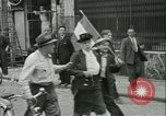 Image of Liberation ceremony Rennes France, 1945, second 20 stock footage video 65675020664