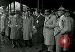 Image of Milwaukee Braves baseball team arrives in the city Milwaukee Wisconsin USA, 1953, second 10 stock footage video 65675020699
