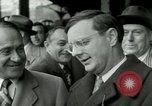 Image of Milwaukee Braves baseball team arrives in the city Milwaukee Wisconsin USA, 1953, second 15 stock footage video 65675020699