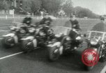 Image of Motorcycle policemen Los Angeles California USA, 1953, second 5 stock footage video 65675020700